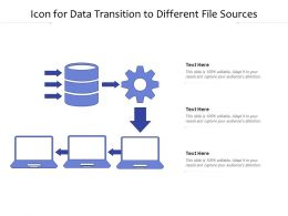 Icon For Data Transition To Different File Sources