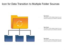 Icon For Data Transition To Multiple Folder Sources