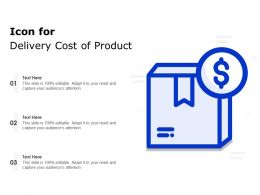 Icon For Delivery Cost Of Product