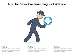Icon For Detective Searching For Evidence