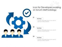 Icon For Developers Working On Scrum Methodology