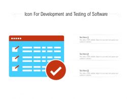 Icon For Development And Testing Of Software