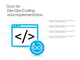 Icon For DevOps Coding And Implementation