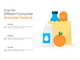 Icon For Different Consumer Groceries Products