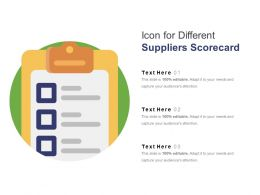 Icon For Different Suppliers Scorecard