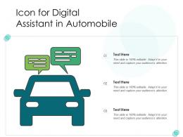 Icon For Digital Assistant In Automobile