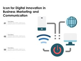 Icon For Digital Innovation In Business Marketing And Communication