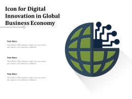 Icon For Digital Innovation In Global Business Economy