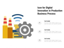 Icon For Digital Innovation In Production Business Process