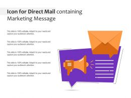 Icon For Direct Mail Containing Marketing Message
