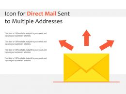 Icon For Direct Mail Sent To Multiple Addresses