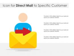 Icon For Direct Mail To Specific Customer