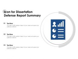 Icon For Dissertation Defense Report Summary