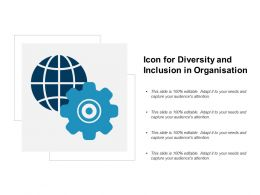 Icon For Diversity And Inclusion In Organisation