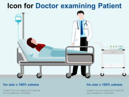 Icon For Doctor Examining Patient