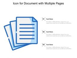 Icon For Document With Multiple Pages