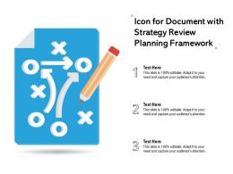 Icon For Document With Strategy Review Planning Framework