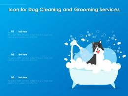 Icon For Dog Cleaning And Grooming Services
