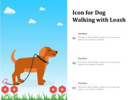 Icon For Dog Walking With Leash