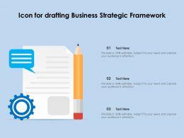 Icon For Drafting Business Strategic Framework