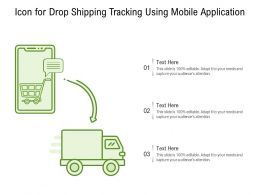 Icon For Drop Shipping Tracking Using Mobile Application