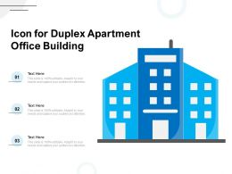 Icon For Duplex Apartment Office Building
