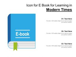 Icon For E Book For Learning In Modern Times