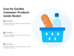 Icon For Eatable Consumer Products Inside Basket