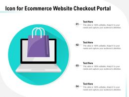 Icon For Ecommerce Website Checkout Portal