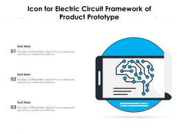 Icon For Electric Circuit Framework Of Product Prototype
