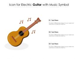 Icon For Electric Guitar With Music Symbol