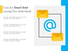 Icon For Email Send Among Two Individuals