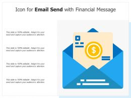 Icon For Email Send With Financial Message