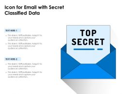 Icon For Email With Secret Classified Data