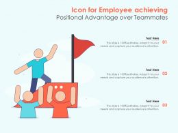 Icon For Employee Achieving Positional Advantage Over Teammates