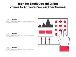 Icon For Employee Adjusting Values To Achieve Process Effectiveness