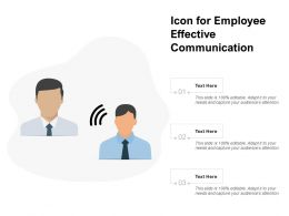 Icon For Employee Effective Communication