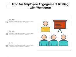 Icon For Employee Engagement Briefing With Workforce