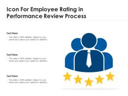 Icon For Employee Rating In Performance Review Process