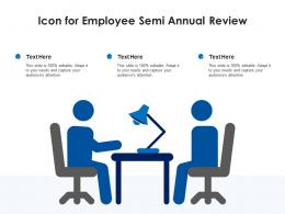 Icon For Employee Semi Annual Review