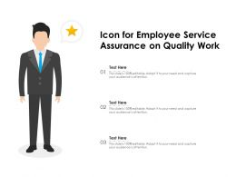 Icon For Employee Service Assurance On Quality Work