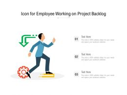 Icon For Employee Working On Project Backlog