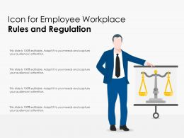 Icon For Employee Workplace Rules And Regulation