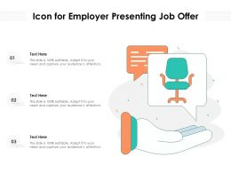 Icon For Employer Presenting Job Offer