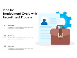 Icon For Employment Cycle With Recruitment Process