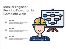 Icon For Engineer Reading Flowchart To Complete Work