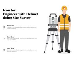 Icon For Engineer With Helmet Doing Site Survey