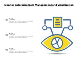Icon For Enterprise Data Management And Visualization