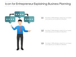 Icon For Entrepreneur Explaining Business Planning