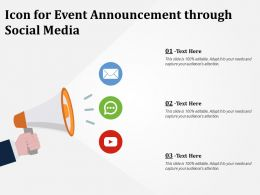 Icon For Event Announcement Through Social Media
